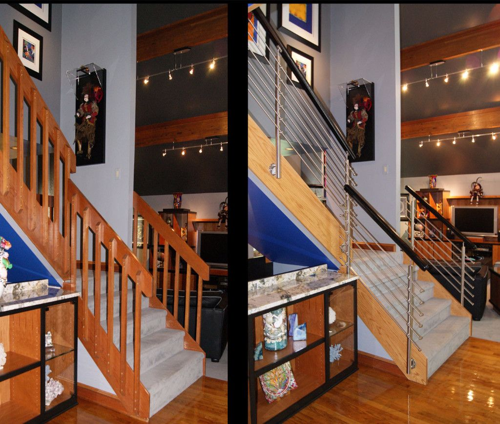 Before And After Stair Remodels Vision Stairways And Millwork